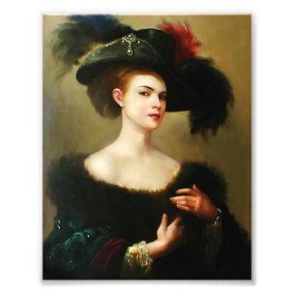Foto Arte da parede da mulher do Victorian, arte da