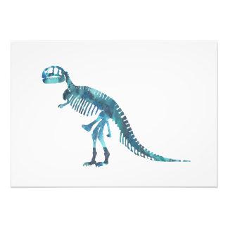 Foto Arte do esqueleto do rex do tiranossauro