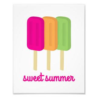 Foto Arte doce do Popsicle do verão