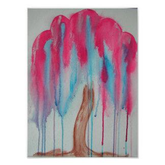 Foto Árvore de salgueiro cor-de-rosa
