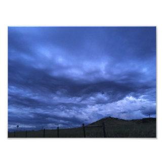 Foto As nuvens estão olhando-me