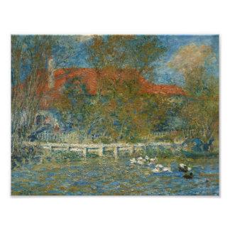Foto Auguste Renoir - a lagoa do pato