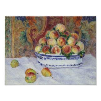 Foto Auguste Renoir - ainda vida com pêssegos