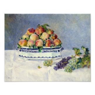 Foto Auguste Renoir - ainda vida com pêssegos e uvas