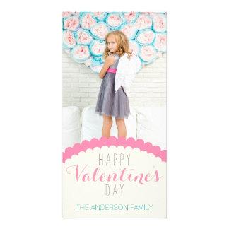 Foto azul cor-de-rosa de creme limpa simples dos cartão com foto