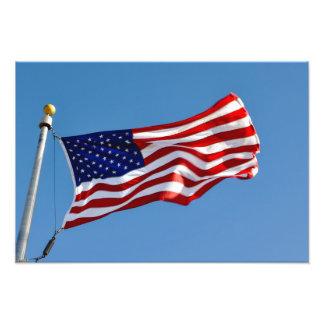Foto Bandeira americana no vento