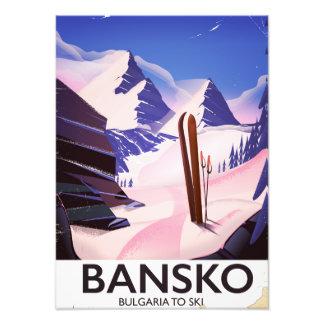 Foto Bansko Bulgária a esquiar
