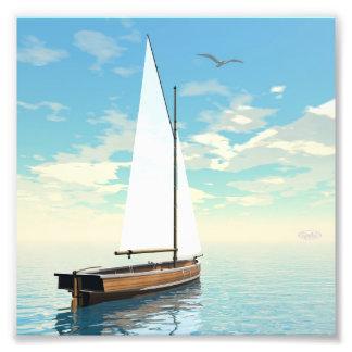 Foto Barco de navigação - 3D rendem