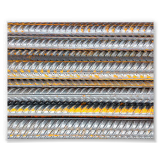Foto Bares de teste padrão de aço oxidados