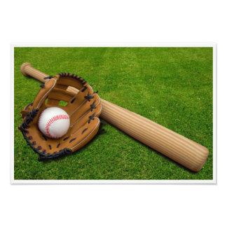 Foto Bastão de beisebol com luva e basebol