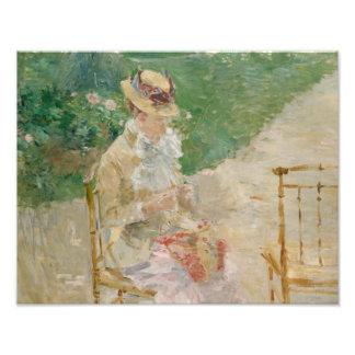 Foto Berthe Morisot - confecção de malhas da jovem