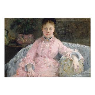 Foto Berthe Morisot - o vestido cor-de-rosa
