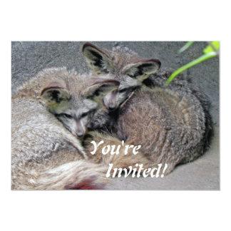 Foto bonito do sono do casal do Fox Convites Personalizado