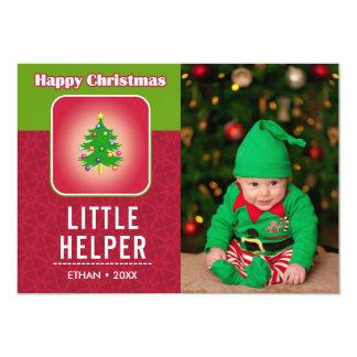 Foto bonito engraçada do feriado do duende do bebê convite 12.7 x 17.78cm