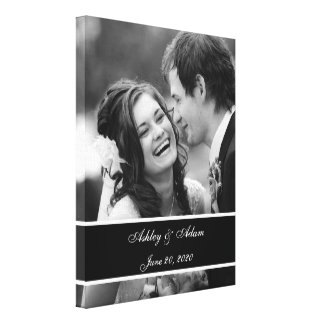 Foto branca preta do casamento personalizada