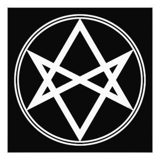 Foto Branco Unicursal do Hexagram de Falln