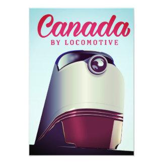 Foto Canadá pelo poster locomotivo do trem dos anos 50
