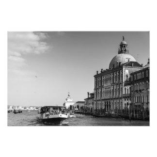 Foto Canal grande em Veneza em preto e branco