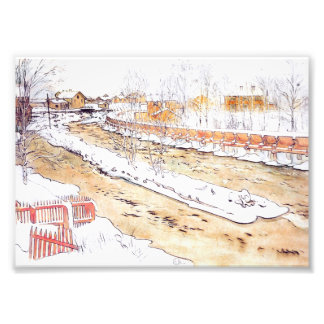 Foto Canal na rampa da madeira da neve