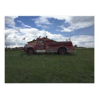 Foto Carro de bombeiros vermelho