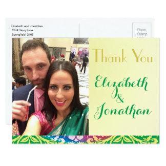 Foto, cartão colorido do casamento de Boho