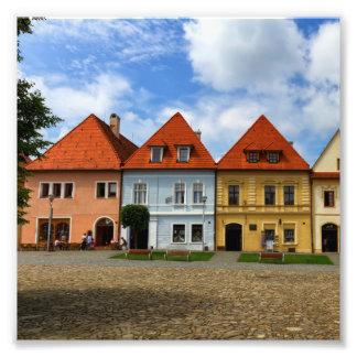 Foto Casas de cidade velhas em Bardejov, Slovakia