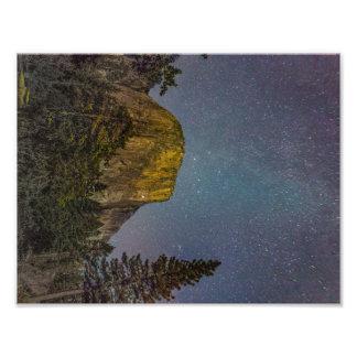 Foto Céu nocturno do EL Capitan do vale de Yosemite