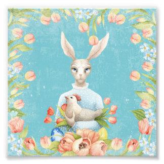 Foto Coelhinho da Páscoa floral bonito do animal das