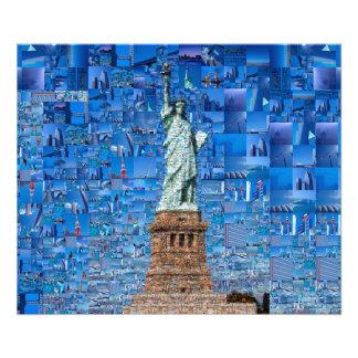 Foto colagem da estátua da liberdade - arte da estátua
