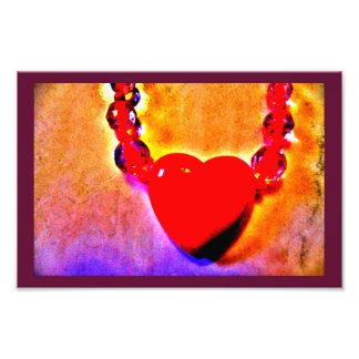 Foto Colar vermelha do coração