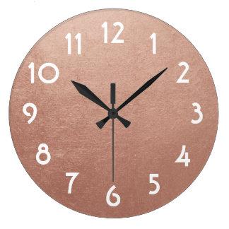 Foto cor-de-rosa bonito da folha de ouro relógio grande