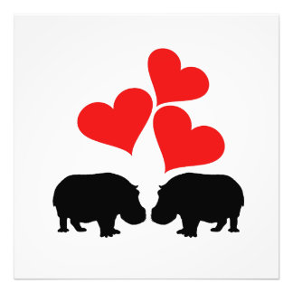 Foto Corações & hipopótamos