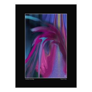 Foto Cornflower que espalha o impressão aberto da