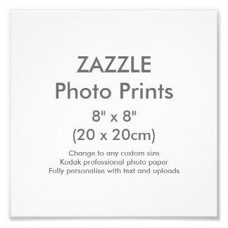 """Foto Costume 8"""" x 8"""" modelo quadrado do impressão da"""