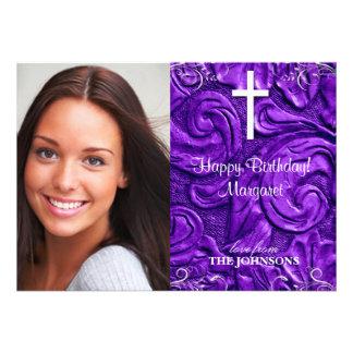 Foto cristã da festa de aniversário eu posso fazer convites personalizado