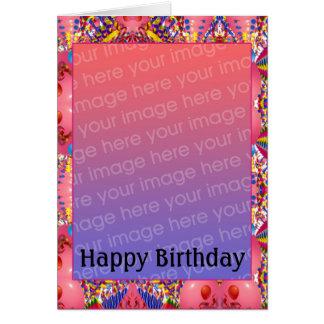 Foto customizável do aniversário cartoes
