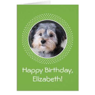 Foto customizável do aniversário cartão comemorativo