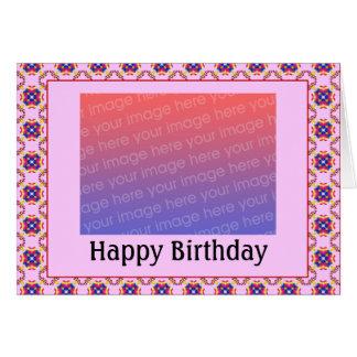Foto customizável do aniversário - Cust… - Persona Cartão