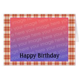 Foto customizável do aniversário - personalizada cartoes