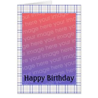 Foto customizável do aniversário - personalizada cartões