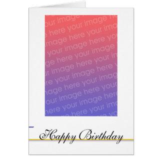 Foto customizável do aniversário - personalizada cartao