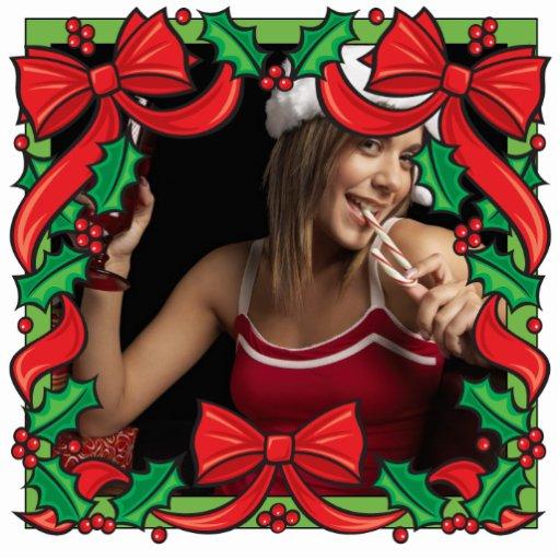 Foto customizável do ornamento do quadro do Natal Esculturafoto