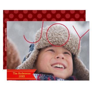Foto da alegria - cartão de Natal 3x5 Convite 8.89 X 12.7cm