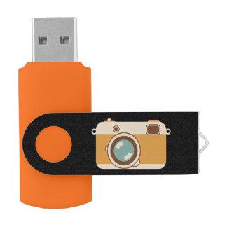 Foto da câmara digital pen drive giratório