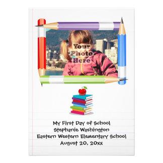 Foto da escola dos miúdos das crianças personaliza