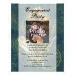 Foto da festa de noivado do casamento da pena do p convites personalizados