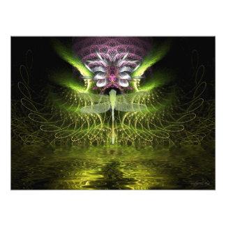 Foto da mágica do Fractal da libélula