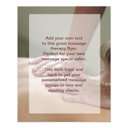 Foto da massagem de sueco panfleto coloridos