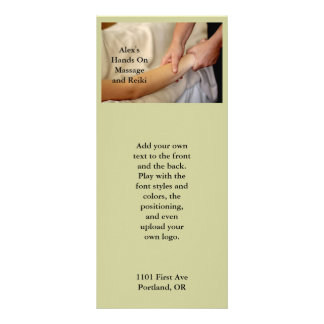 Foto da massagem do braço 10.16 x 22.86cm panfleto
