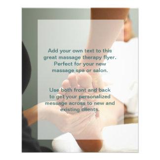 Foto da massagem do pé panfletos coloridos